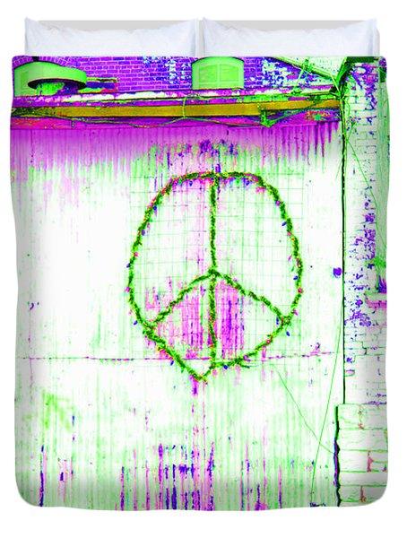 Duvet Cover featuring the photograph Peace 2 by Minnie Lippiatt