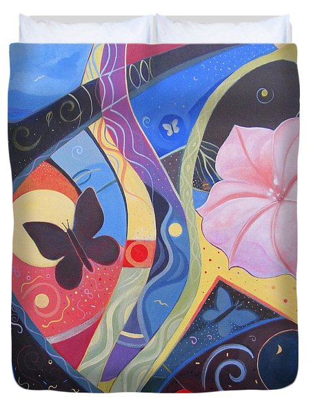 Peace And Flow Duvet Cover