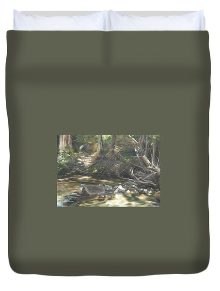 Peace At Darby Duvet Cover