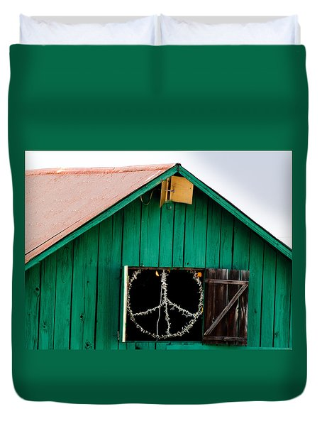 Peace Barn Duvet Cover by Bill Gallagher