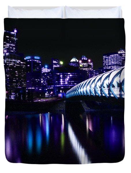Peace Bridge Feeling The Blues Duvet Cover by Bob Christopher