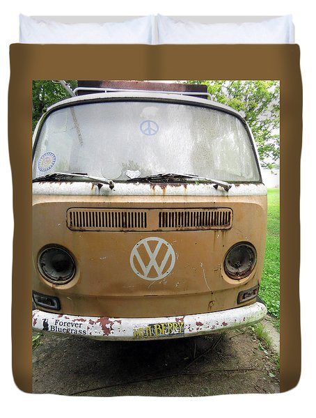 Peace Bus Duvet Cover