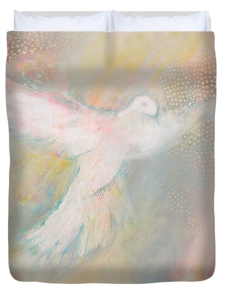 Peace Dove Duvet Cover by Anne Cameron Cutri