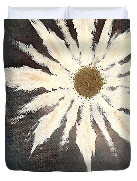Duvet Cover featuring the painting Peace Flower by Jacqueline McReynolds