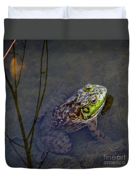 Peace Frog Duvet Cover