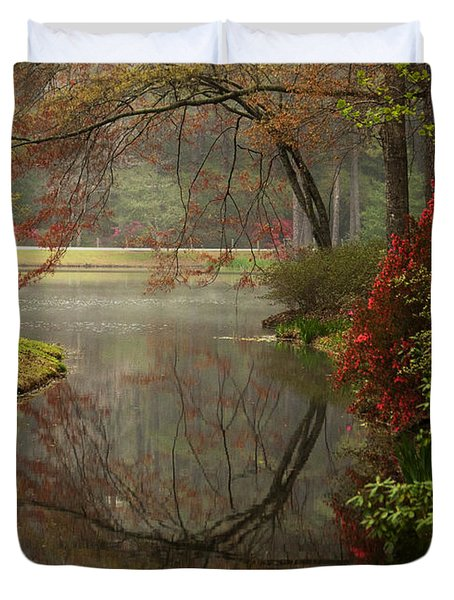 Peace In A Garden Duvet Cover