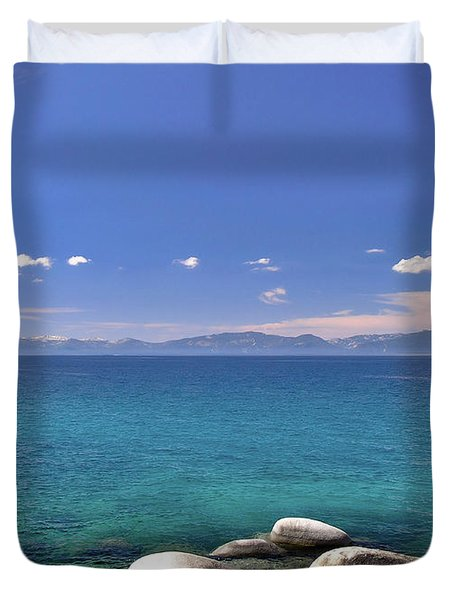 Peace - Lake Tahoe Duvet Cover