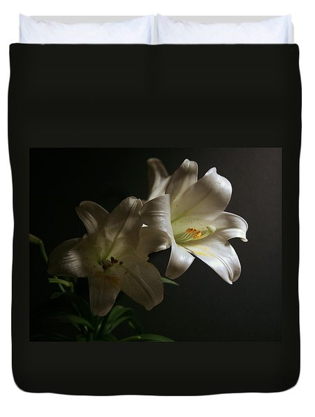 Peace Lily Duvet Cover by Cathy Harper