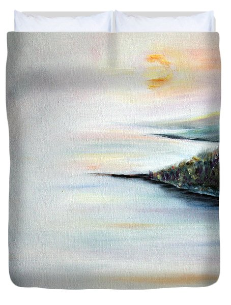 Duvet Cover featuring the painting Peace by Meaghan Troup