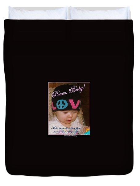 Peace N Love Baby Duvet Cover