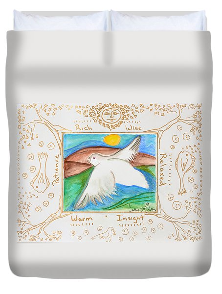 Peace Of Heaven Duvet Cover by Cassie Sears