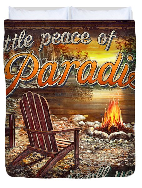 Peace Of Paradise Duvet Cover