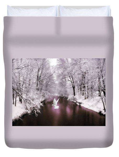 Peace On Earth   Duvet Cover by Jessica Jenney