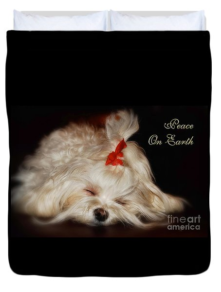 Peace On Earth Duvet Cover by Lois Bryan