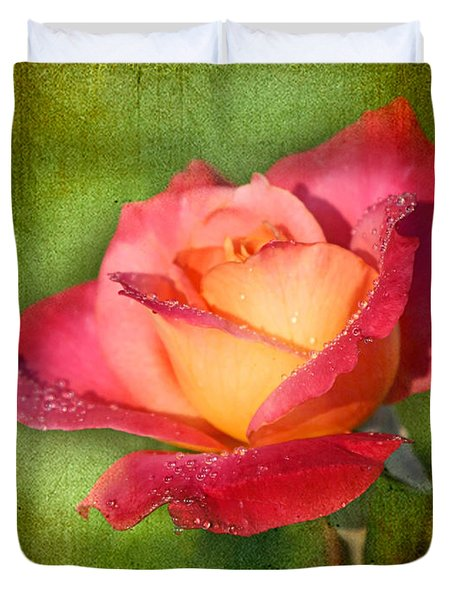 Peace Rose Duvet Cover by Joan McCool