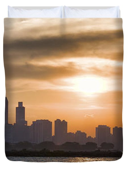 Peaceful Chicago Duvet Cover by John Hansen