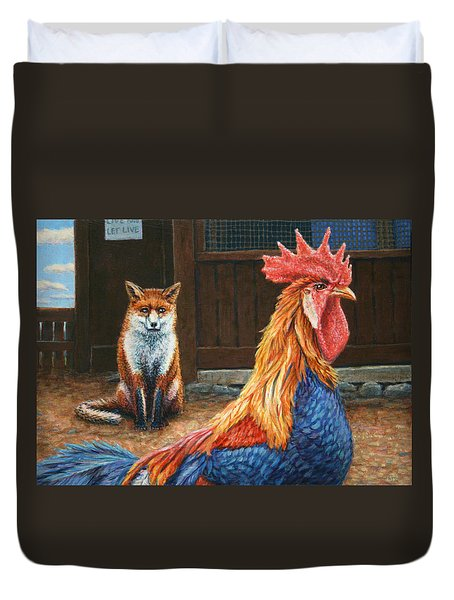 Peaceful Coexistence Duvet Cover by James W Johnson