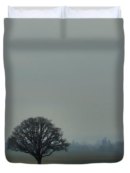 Peaceful Country Morning Duvet Cover by Don Schwartz