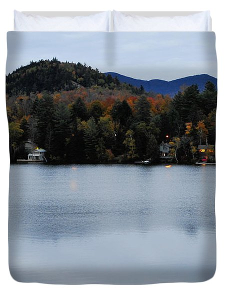 Peaceful Evening At The Lake Duvet Cover