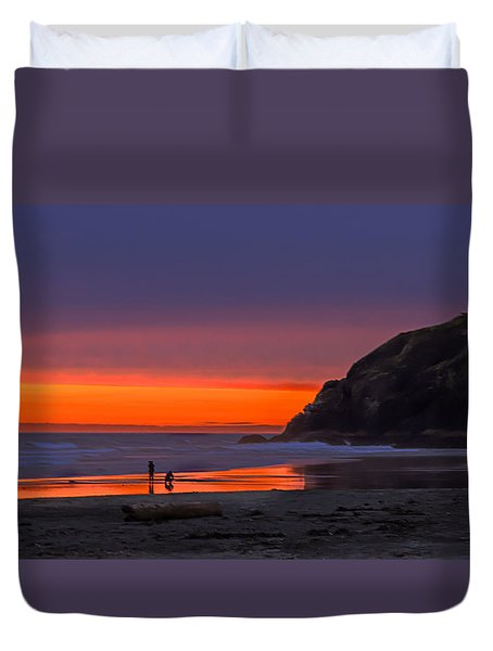 Peaceful Evening Duvet Cover by Robert Bales