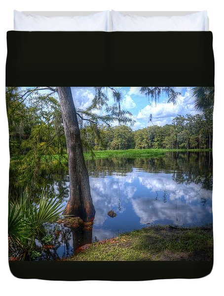 Peaceful Florida Duvet Cover by Timothy Lowry