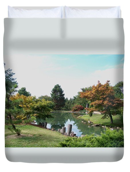 Peaceful Gardens Duvet Cover by Julie Grace