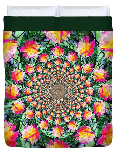 Duvet Cover featuring the photograph Peaceful Kaleidoscope by Judy Palkimas
