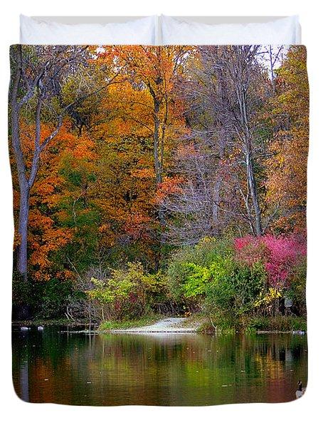 Peaceful Lake Duvet Cover