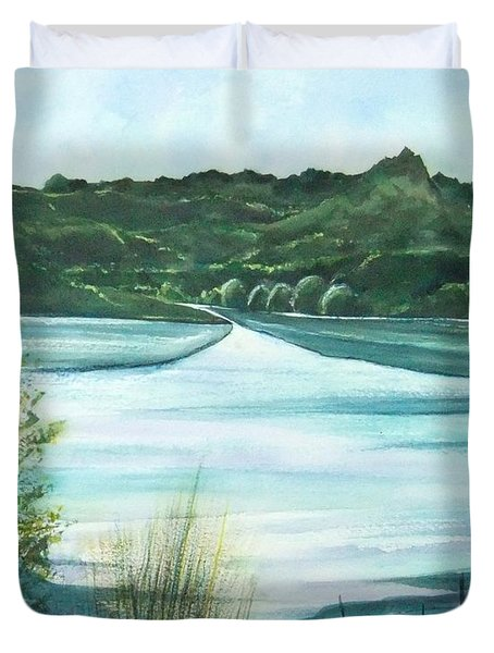 Peaceful Lake Duvet Cover