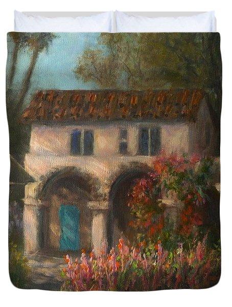 Peaceful Landscape Paintings Duvet Cover