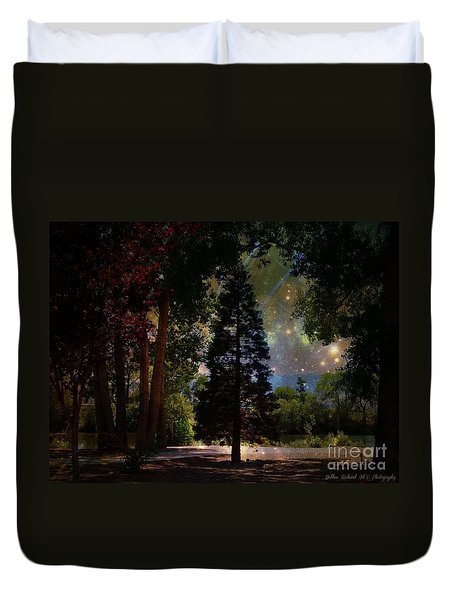 Magical Night At The River Duvet Cover