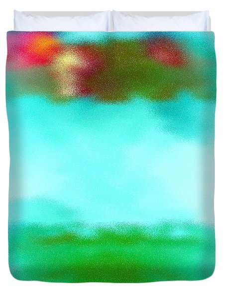 Duvet Cover featuring the digital art Peaceful Noise by Anita Lewis