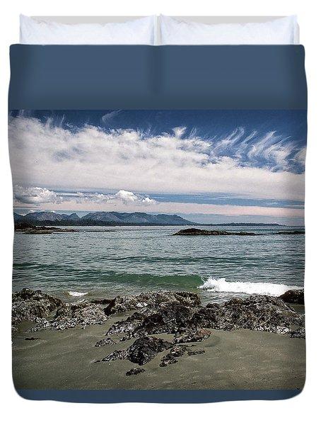 Peaceful Pacific Beach Duvet Cover