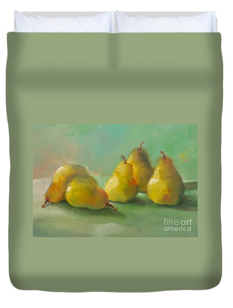 Peaceful Pears Duvet Cover