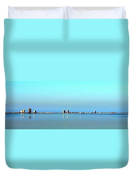 Peaceful Pensacola Beach Duvet Cover by Faith Williams