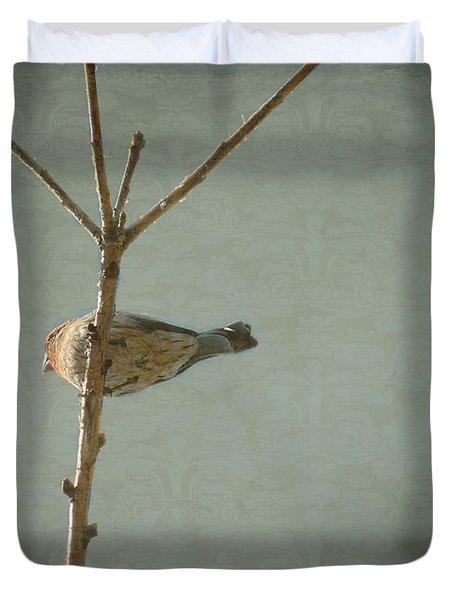 Peaceful Perch Duvet Cover by Meghan at FireBonnet Art