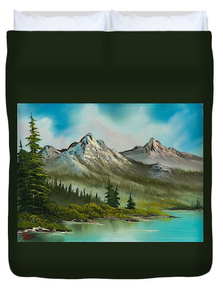 Peaceful Pines Duvet Cover by C Steele