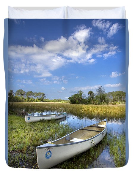 Peaceful Prairie Duvet Cover by Debra and Dave Vanderlaan