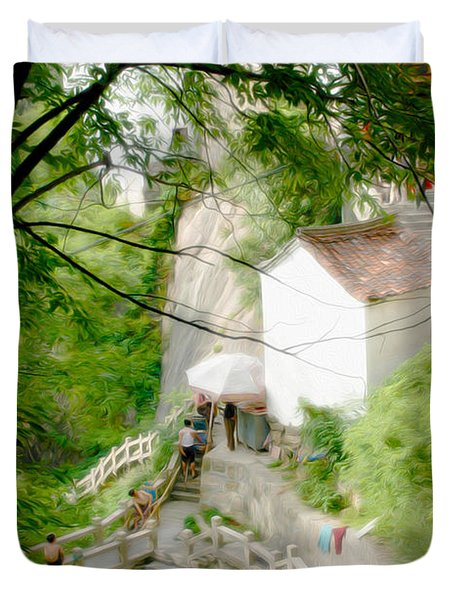 Peaceful Spot In China Duvet Cover