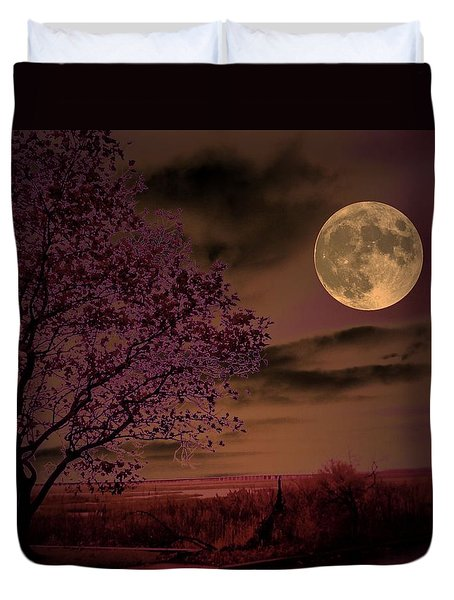 Peaceful Valley Duvet Cover by Robert McCubbin