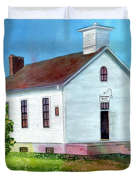 Peach Grove School Duvet Cover