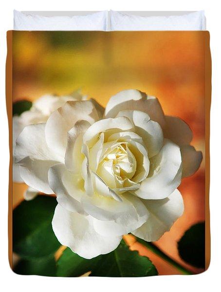 Peaches And Cream Duvet Cover by Christina Rollo