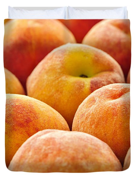 Peaches Duvet Cover by Elena Elisseeva