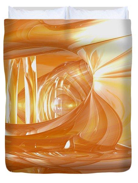 Peaches N' Cream Duvet Cover by Joshua Thompson