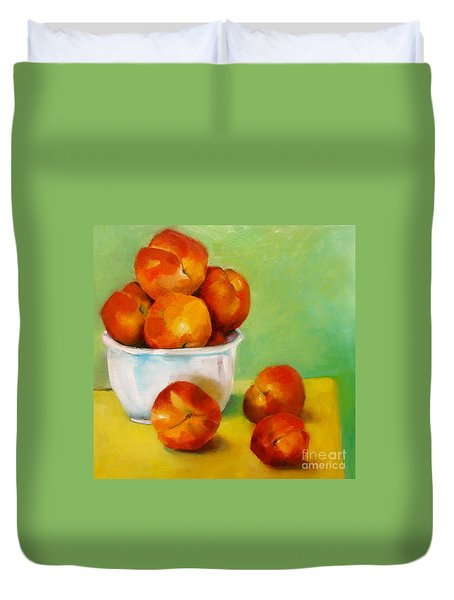 Peachy Keen Duvet Cover