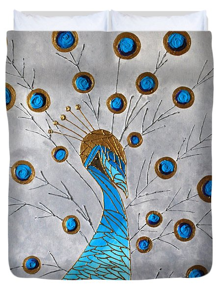 Peacock And Its Beauty Duvet Cover