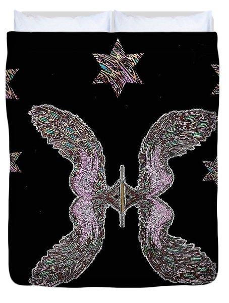 Peacock Butterfly Popart Duvet Cover