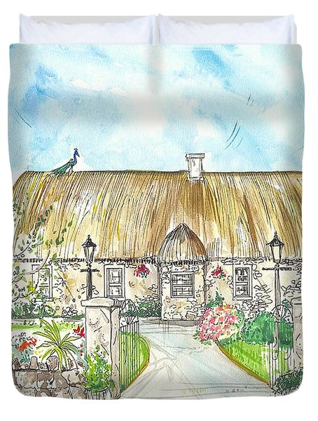 House Portrait Peacock Cottage Kanturk County Cork Ireland Duvet Cover