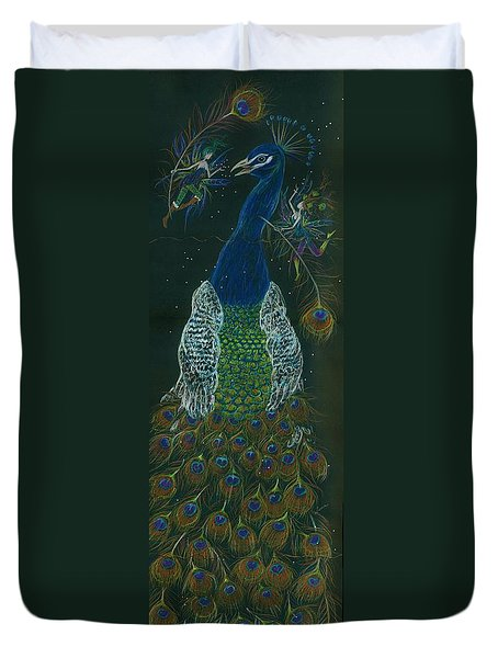 Peacock Dearest Duvet Cover