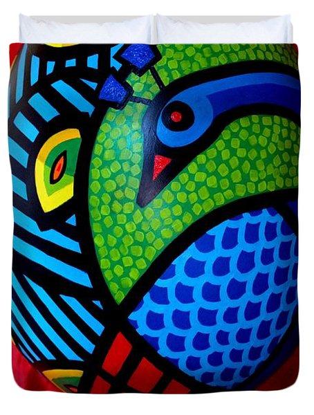 Peacock Egg II  Duvet Cover